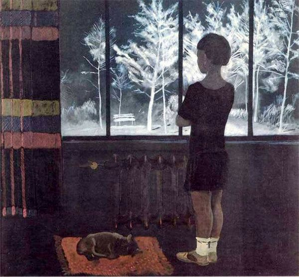 The Girl At The Window - Winter-Alexander Deineka (1899 – 1969, Russian)