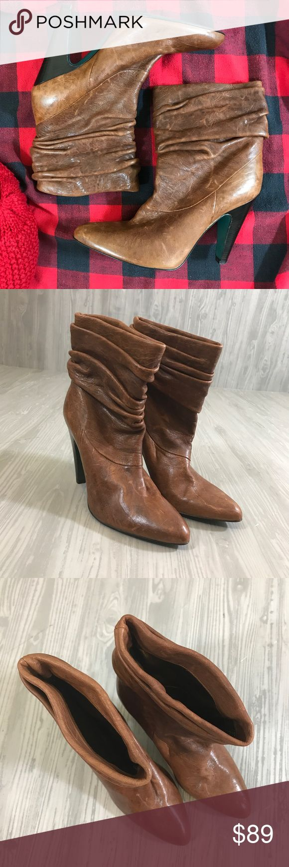$394 BCBGMAXAZRIA iradia slouch ankle boot sz 7.5 Iradia distressed luggage boots  $394 bcbg bcbgmaxazria women's iradia slouch ankle boot shoes, luggage  US 7 1/2 (7.5) boots are in excellent condition and have only very minimal wear. BCBGMaxAzria Shoes Ankle Boots & Booties