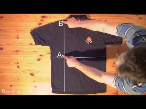 Con este método podrás aprender a doblar tus camisetas y camisas de manga corta en menos de dos segundos. ¡Un gran invento!