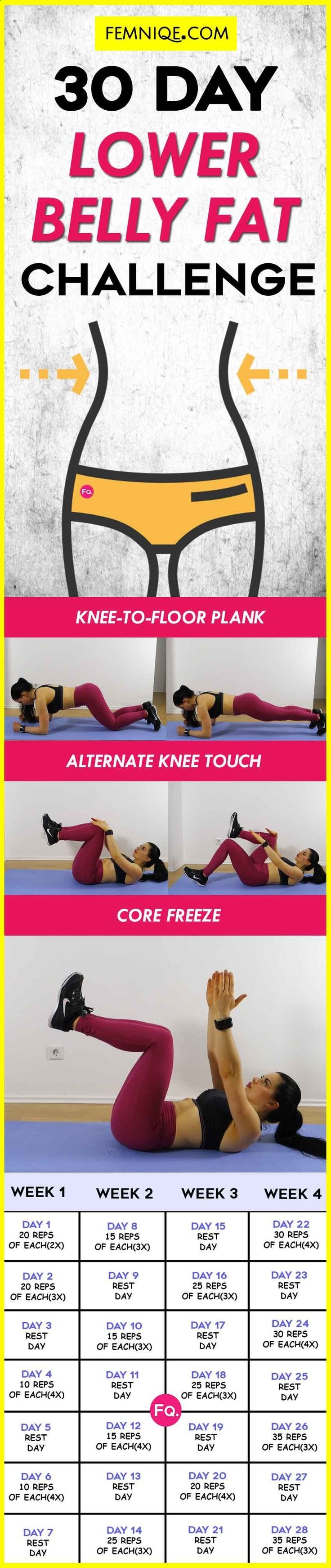 Belly Fat Workout - LOWER BELLY FAT CHALLENGE Do This One Unusual 10-Minute Trick Before Work To Melt Away 15+ Pounds of Belly Fat