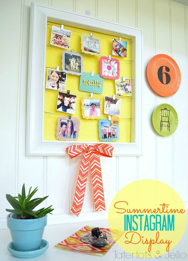 Summertime Instagram Display at Tatertots and Jello