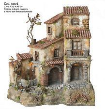 Presepe presepio artigianale napoletano San Gregorio Armeno CECR1 40X24X45H CM