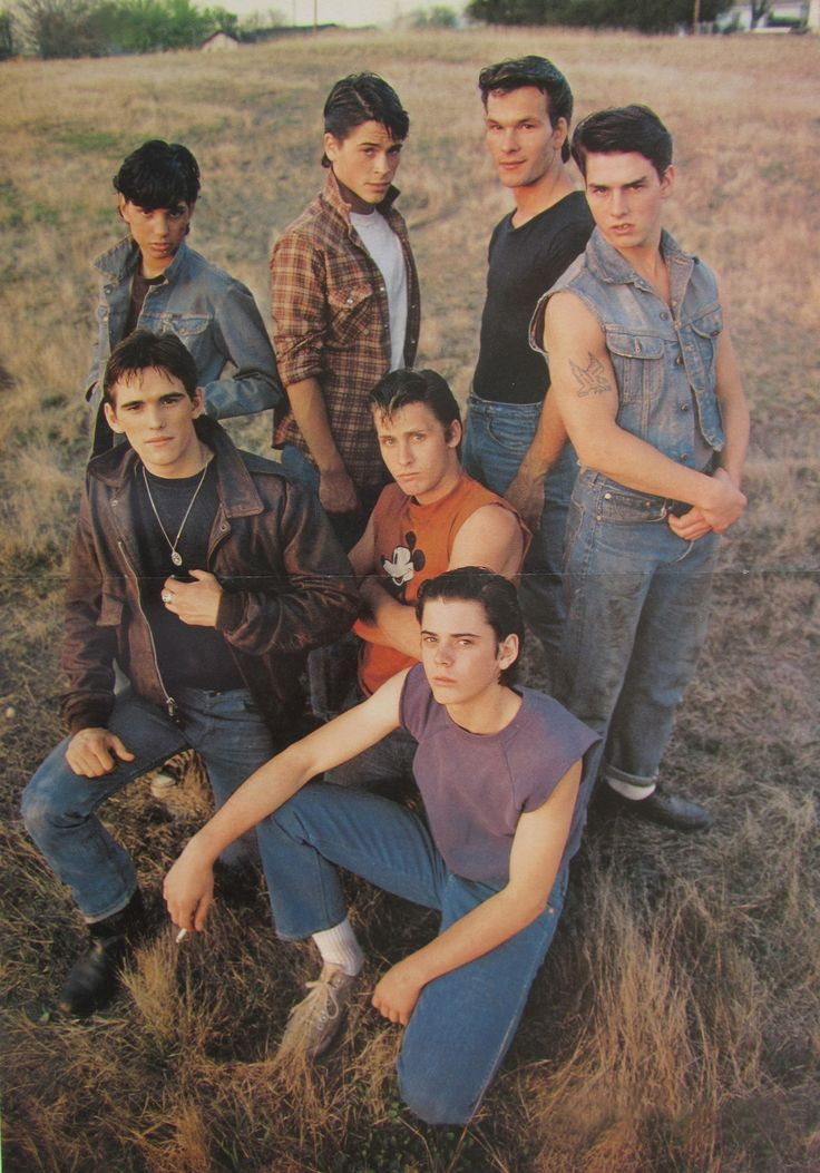 ..._The outsiders/ Coppola/ 1983/ Tom Cruise, Matt Dillon, Rob Lowe, C. Thomas Howell and Ralph Macchio