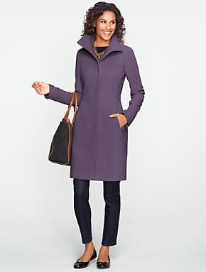 Talbots - Plush Twill Walking Coat With Full Lining | Outerwear | Misses