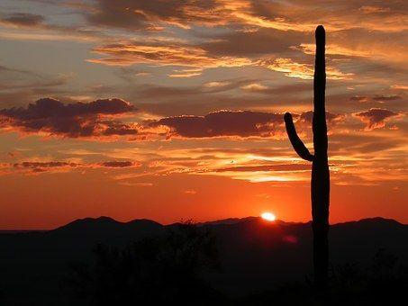 Arizona, Peyzaj, Manzara, Günbatımı
