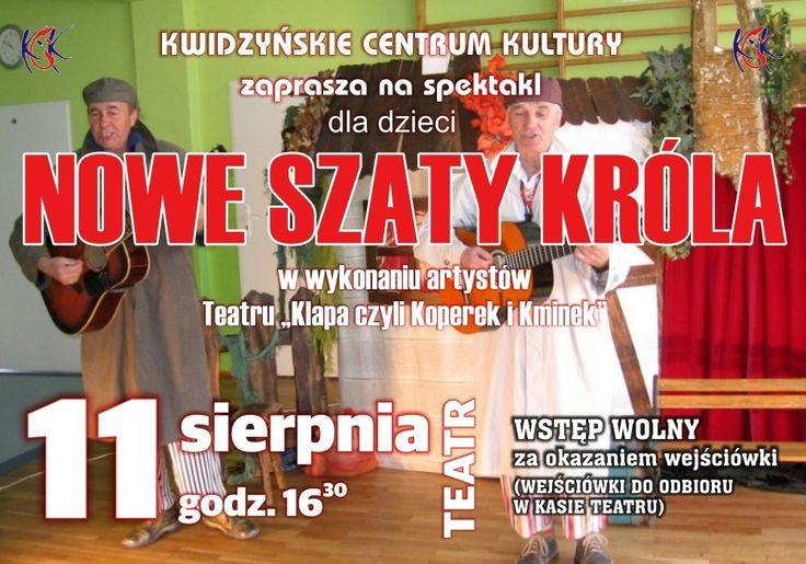 """Spektakl dla dzieci """"Nowe szaty króla"""", 11.08.2014 r."""