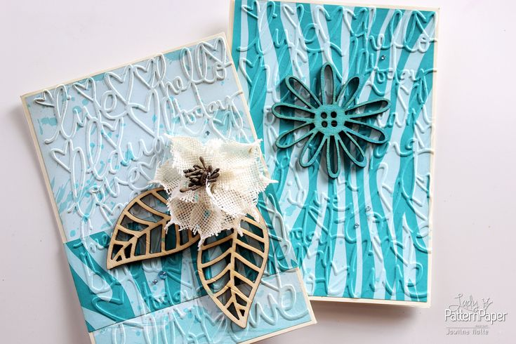 Create a set of beautiful Zesty Zebra cards in a few easy steps, using your gorgeous Lady Pattern Paper Basically Textured Intense Teal paper