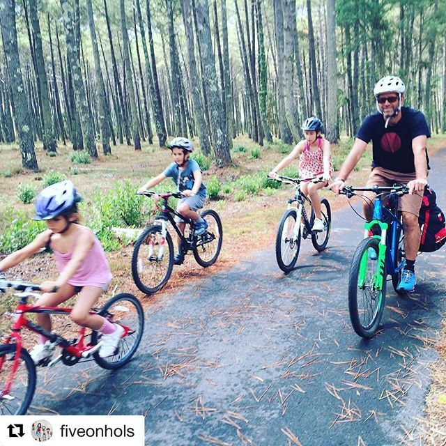 La Velodyssée en famille avec @fiveonhols with @repostapp ・・・ V is for ... Velodyssey, Cote d'Argent, SW France.  Verdict: An easy way to do some family coastal cycling with plenty of beach stops and mobile home options.  We loved:  Everything about this route-to-route medium sized relaxed pace bike ride from Biarritz to Contis-Plage, and the pine forest / laid-back beach combo — would definitely like to return and try the next stage. #velodyssee #familycycling #lavelodyssee #velodyssee…