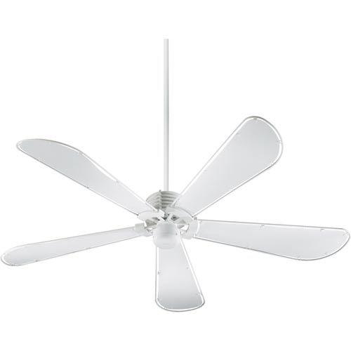 Dragonfly Studio White 60 Inch Ceiling Fan Quorum International Stem Mounted Fan Ceiling F
