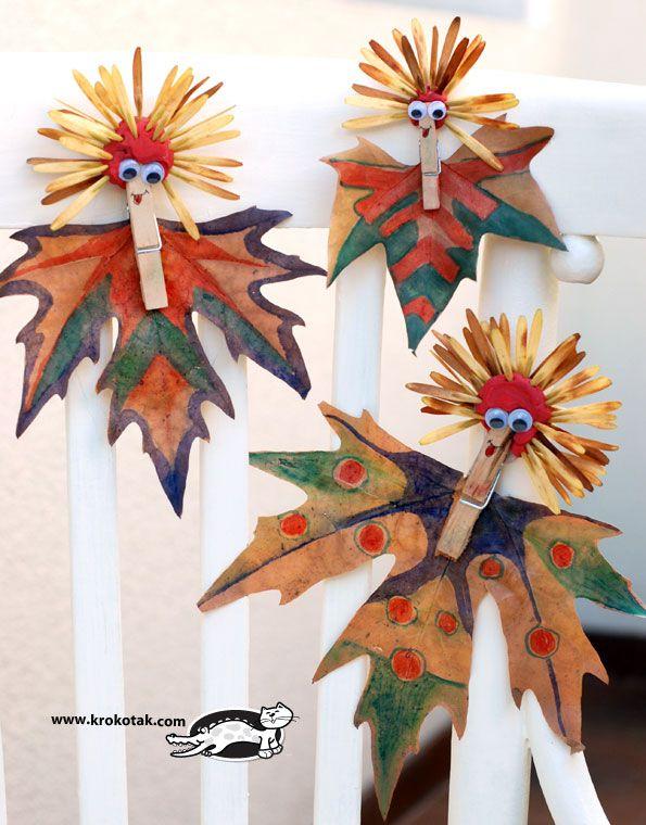 Craft idea: Leave figures Tutorial  http://www.thecraftideas.com/kids/craft-idea-leave-figures-tutorial