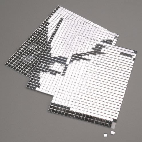 Deko Spiegel, Selbstklebend, 5 X 5 Mm, 600 Stück Silber