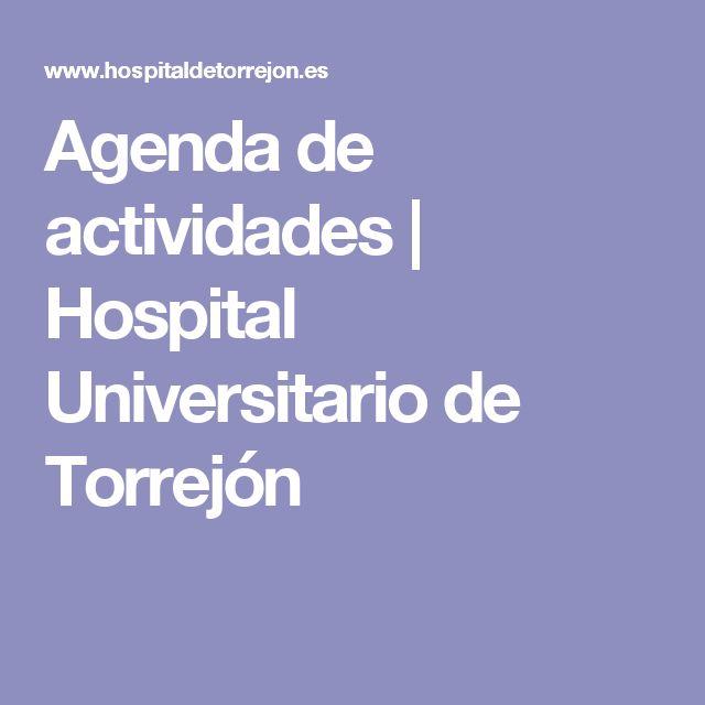 Agenda de actividades | Hospital Universitario de Torrejón