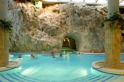 The Cave Bath is a thermal bath in a natural cave in Miskolctapolca in Hungary. Wow...I need a travel board.