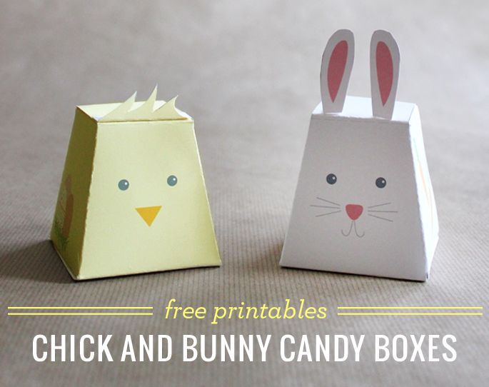 Free Chick & Bunny Candy Boxes