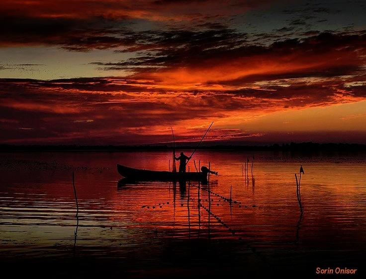 #Sunset in the Danube #Delta. Amazing!