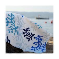 """Nappe  enduite """"Corail""""  rect 160x240cm -bleu/turquoise"""
