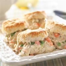 Easy creamed chicken over biscuits recipe