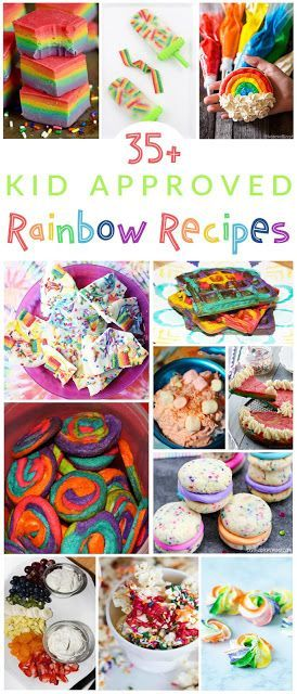 35+ Kid Approved Rainbow Recipes
