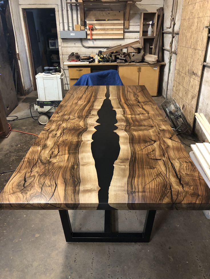 English walnut and epoxy dining table wood resin table