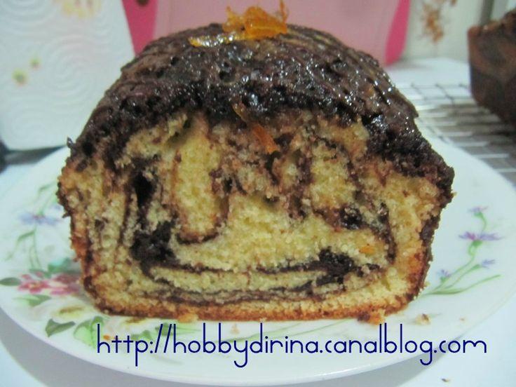 CAKE MARBRE CHOCOLAT-ORANGE / МРАМОРНЫЙ ШОКОЛАДНО-АПЕЛЬСИНОВЫЙ КЕКС