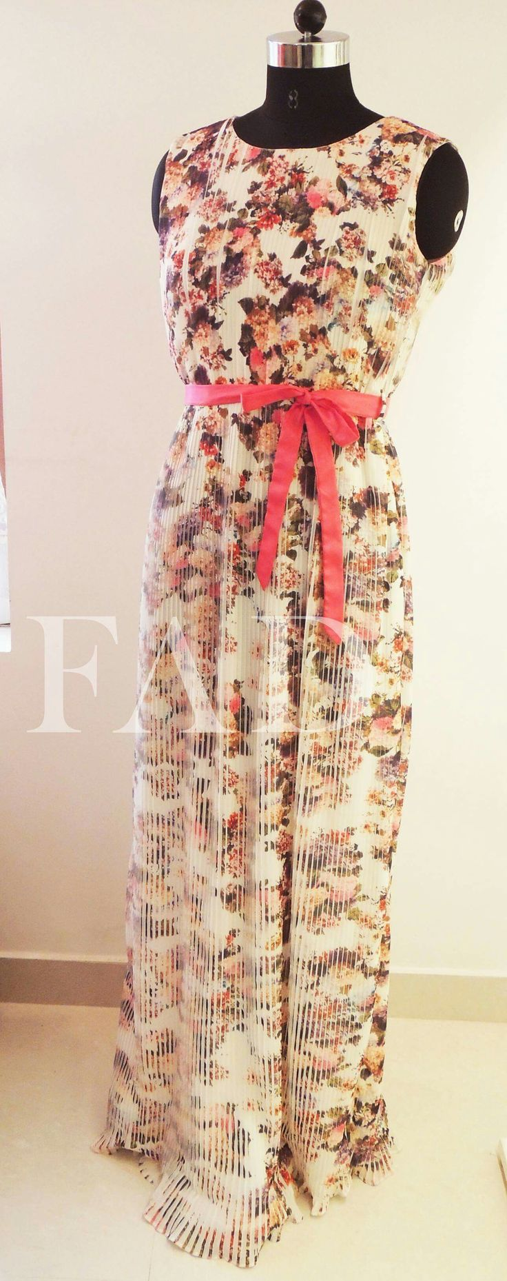 White floral dress..Perfect for a summer wedding..!!