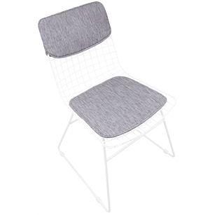 Kussenset metalen draad stoel, Grijs, medium 34,99 sissyboy