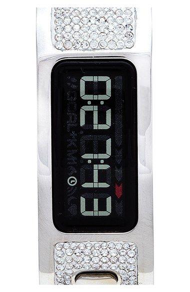 Garmin Pave Crystal Digital Fitness Tracker Bracelet Watch, 10mm