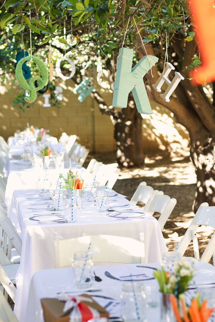 an adorable outdoor baby shower