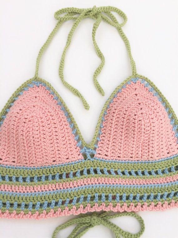 Crochet Halter Top Pattern Festival Halter Top Crop Top Crochet