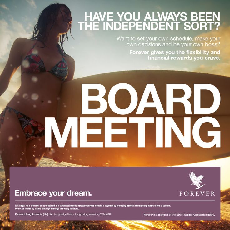 Say hello to a new type of board meeting with #ForeverLiving. http://link.flp.social/h4rVpI