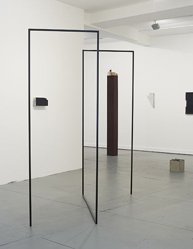 Valérie Kolakis | Same as a square consisting of a reversed and inverted L | 2014 | Metal | 213 x 150 x 153 cm - at FOLD Gallery