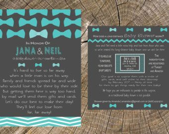 Long Distance Baby Shower 5x7 Invitation and 5x5 by JS7Designs