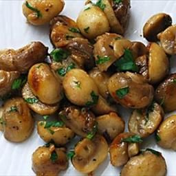 mushrooms sauteed with garlic butter...
