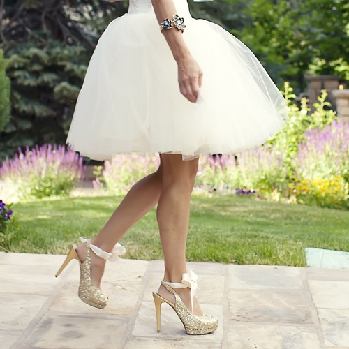 Short Ballerina Wedding Dress Plus Fun Shoes