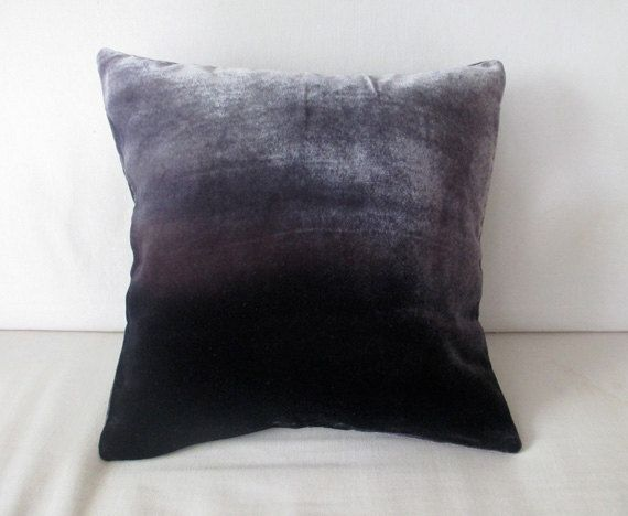 Dark gray small decorative ombre velvet small square by Colorbloom http://www.fionapitkin.co.uk