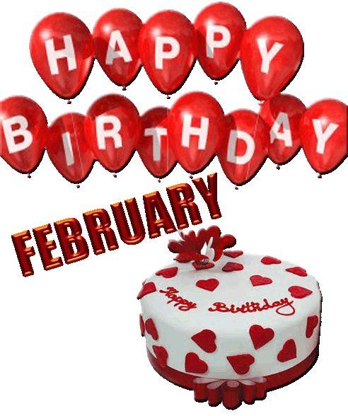 February Birthday Cake Clip Art
