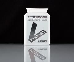 Vantage T5 THERMOCUT™ is a biochemically advanced thermogenic fat burner suitable for Men and Women.   T5 THERMOCUT™ triggers lipolytic actions in your metabolic system to help you achieve your body fat and weight reduction goals. Each research proven ingredient is of the highest potency and purity available, ensuring maximum fat loss potential.