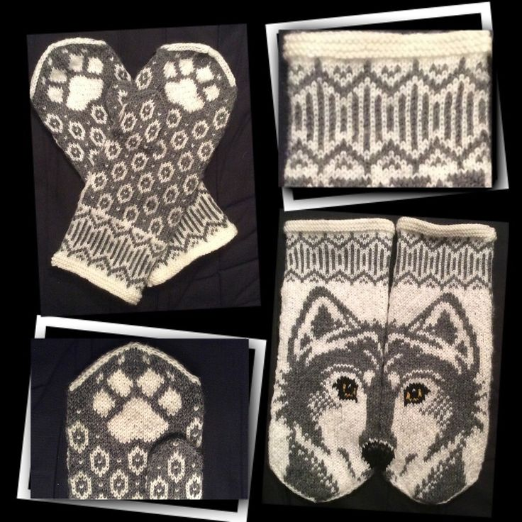 Ravelry: Wolfie mittens by JennyPenny