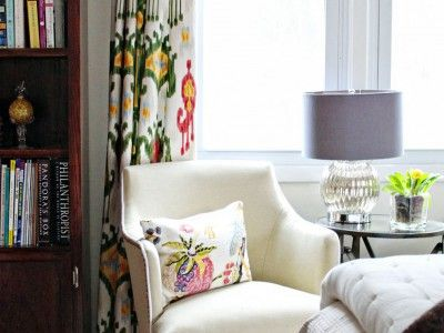 DIY Window Treatments: Decor Ideas, Living Rooms, Lakes Life, Curtains Panels, Master Bedrooms, Reading Nooks, Window Treatments, Bedrooms Retreat, Diy Window