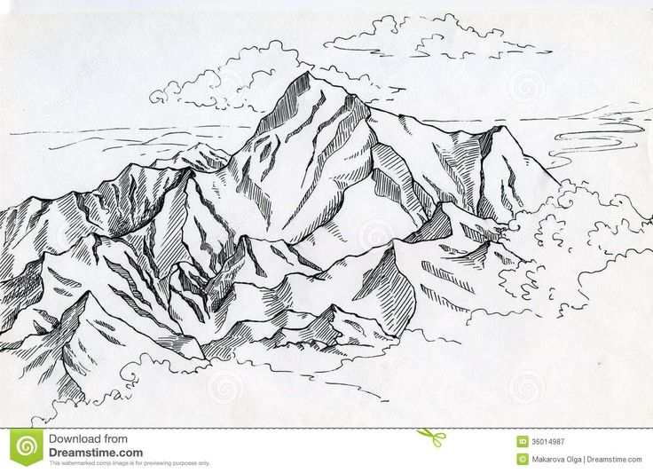 Line Drawing River : Mountain range drawing google search mountains
