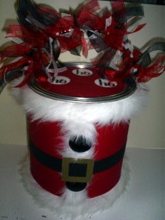 Santa Paint Can!  I already have the mini paint cans.  Now...what to put in them.