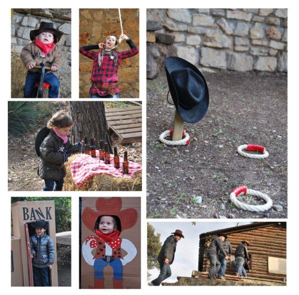 Fiesta de vaqueros para niños