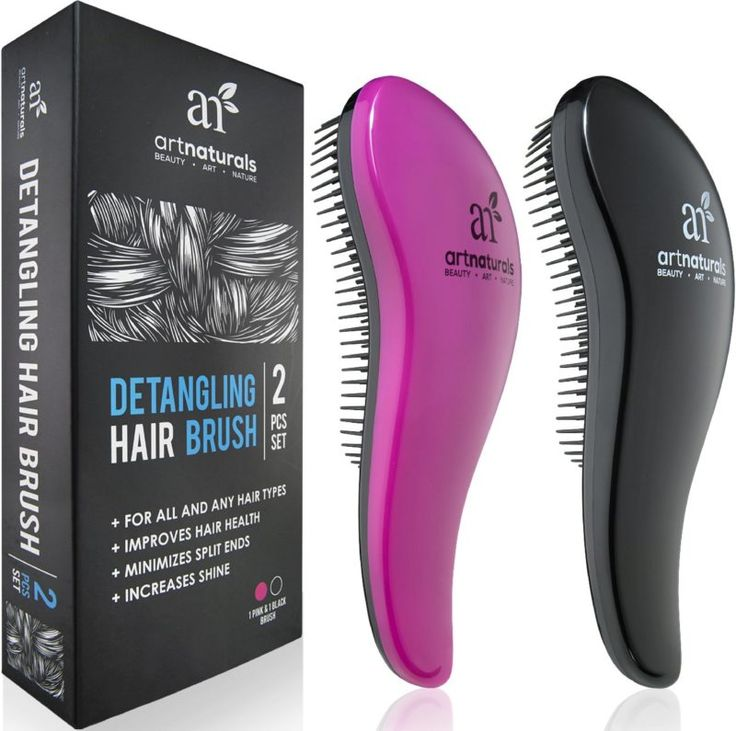 Amazon.com: Art Naturals Detangling Hair Brush Set (Pink & Black) - glide the Detangler through Tangled hair - Best Brush / Comb for Women, Girls, Men & Boys - Use in Wet and Dry Hair - Top Detangling Brush: Beauty | @giftryapp