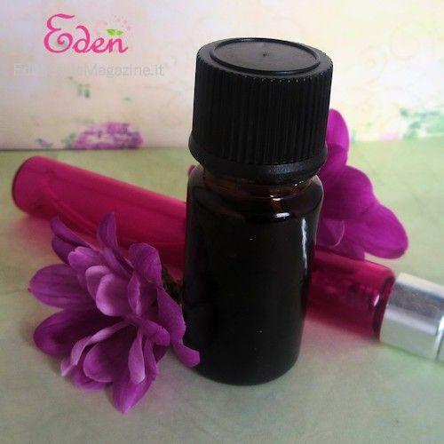 Profumo spray fai da te con oli essenziali o fragranze cosmetiche naturali  -  Spignatto - ricette cosmetici ecobio fai da te