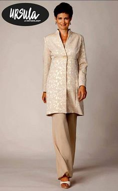 Ursula 3pc Coat Pant Suit 13020 Wedding Mother Of The Bride