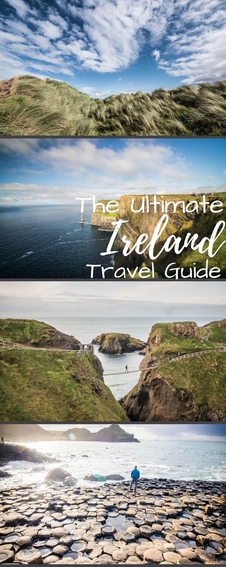 The ultimate Ireland travel guide for you next vacation. What to wear, things to do, honeymoon ideas and more! Including Dublin, Cork, Galway, Belfast, Killarney, and the Cliffs of Moher!