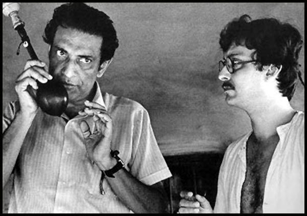 Satyajit Ray with Soumitra Chatterjee.