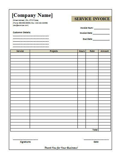 Free Tour Service Invoice Template Invoice Invoice
