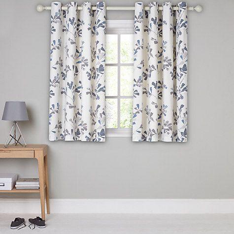 Buy John Lewis Thalia Lined Eyelet Curtains, Blue Online at johnlewis.com
