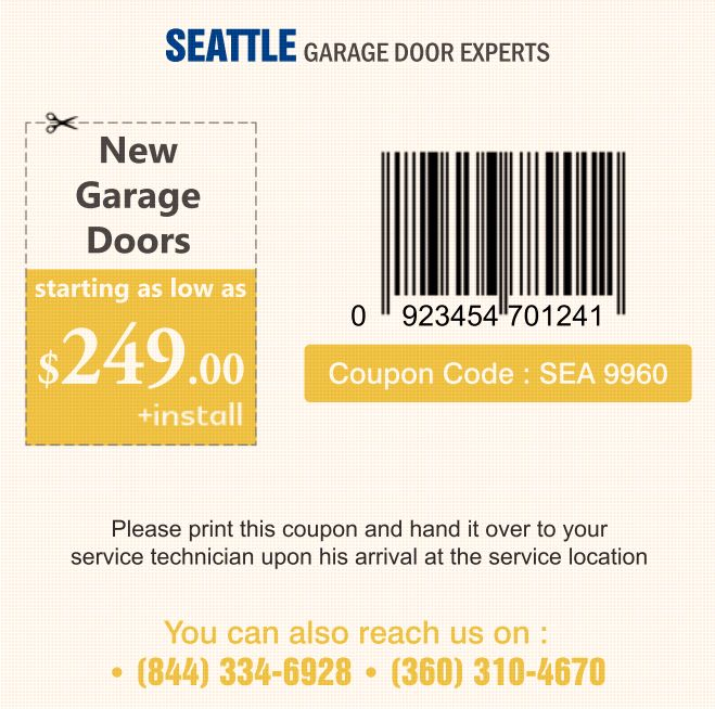 Garage door special offers on weekends and holidays.
